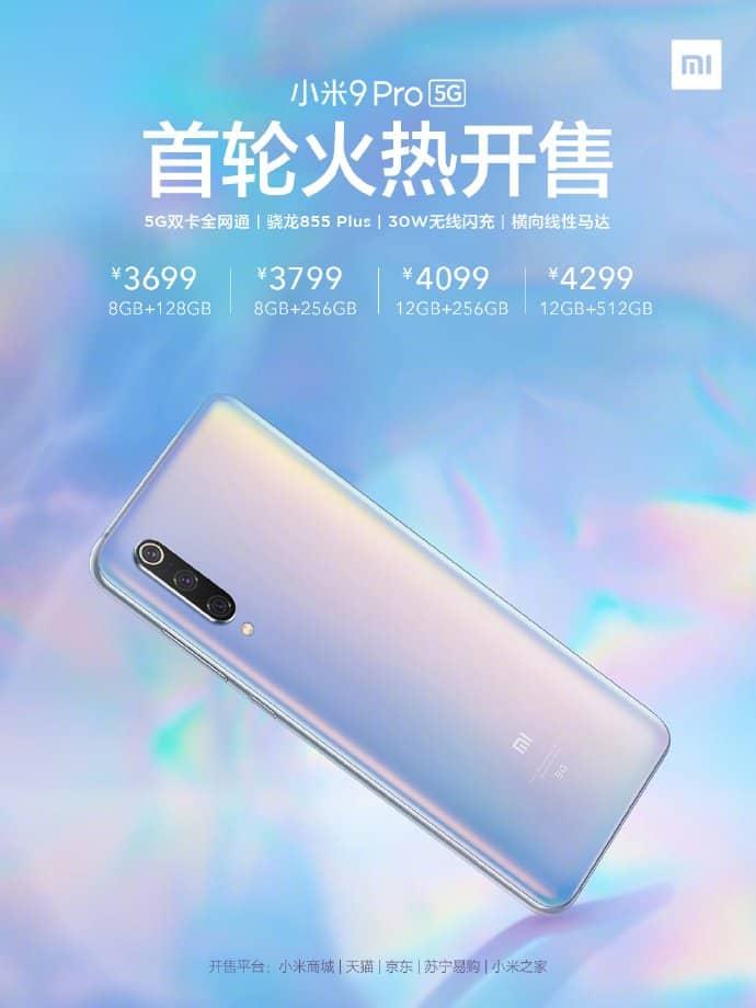 Xiaomi-Mi-9-Pro-5G precios