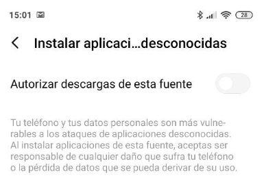 aplicaciones desconocidas