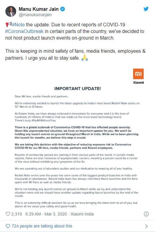 lanzamiento Redmi Note 9