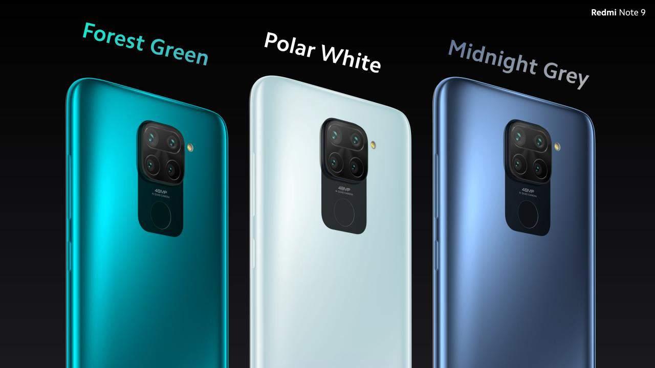 Redmi Note 9 todos los colores