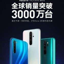 La serie Redmi Note 8 supera los 30 millones en todo el mundo