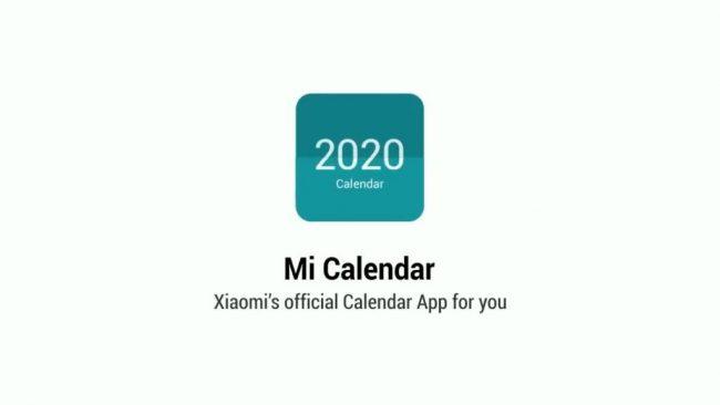 Xiaomi Mi Calendar