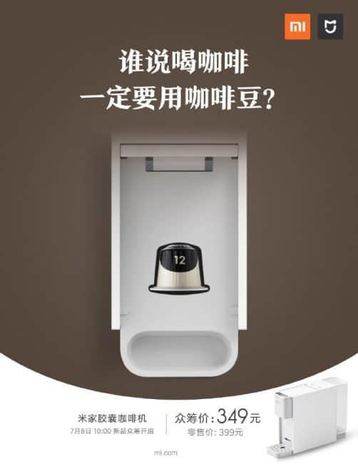 Cafetera con cápsula Xiaomi Mijia