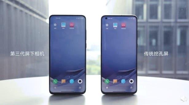 Tecnología de cámara debajo de la pantalla de tercera generación de Xiaomi