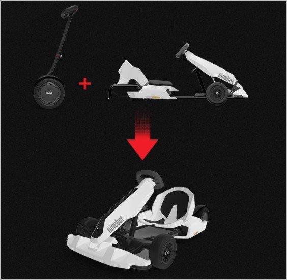 Ninebot Scooter autoequilibrado MAX versión deportiva