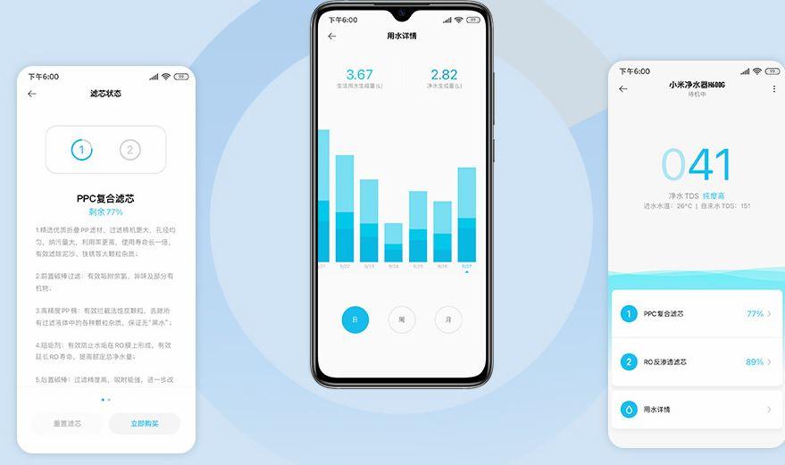 app filtro de agua