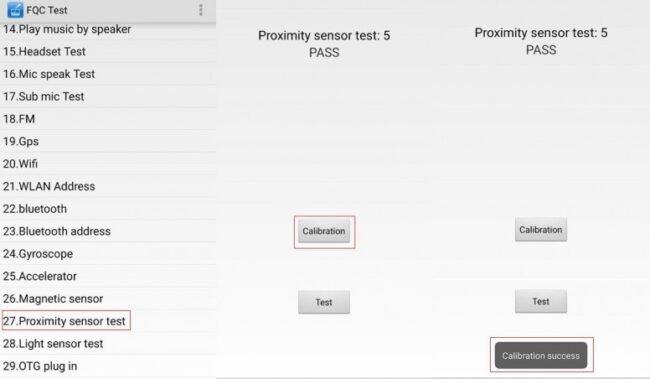 calibrar sensor de proximidad en miui