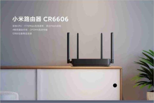 Enrutador Xiaomi WiFi 6 CR6606