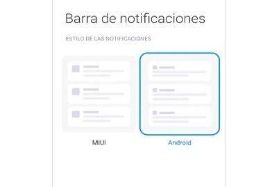 barra de notificaciones
