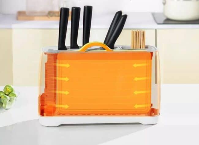 secador de cuchillos de cocina