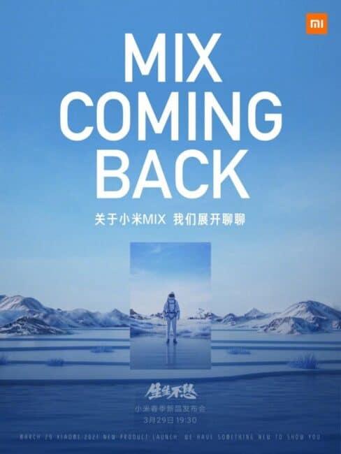 Evento de lanzamiento de Xiaomi Mi MIX 29 de marzo