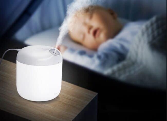 luz del humidificador de baseus
