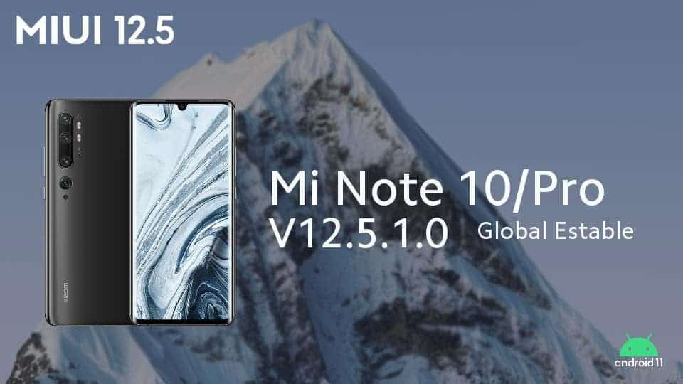 actualizacion Miui 12.5 mi note 10