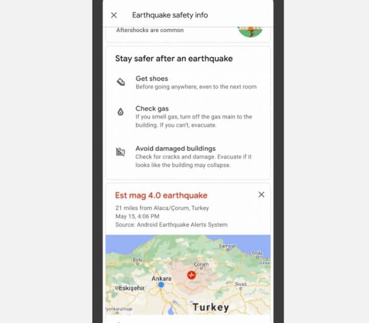 sistema de terremotos de xiaomi y android