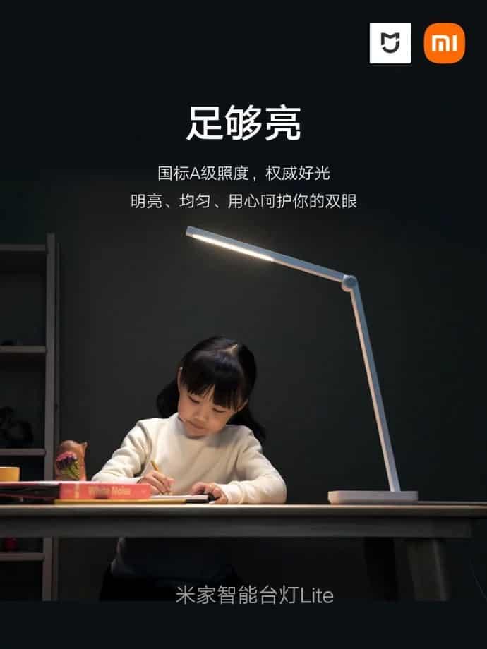 lámpara de escritorio inteligente xiaomi mijia lite
