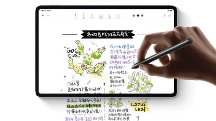 lápiz xiaomi mi pad 5 notas de escritura a mano