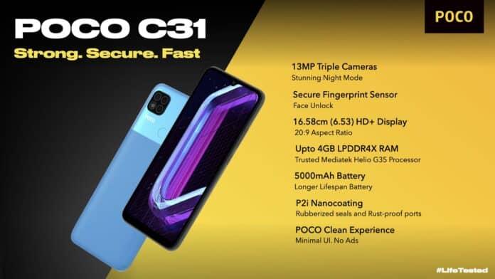 little c31 especificaciones técnicas precio lanzamiento 30/09 portada