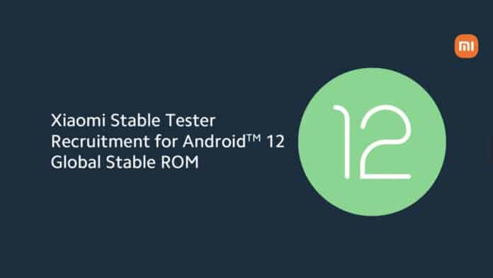 xiaomi android 12 prueba global