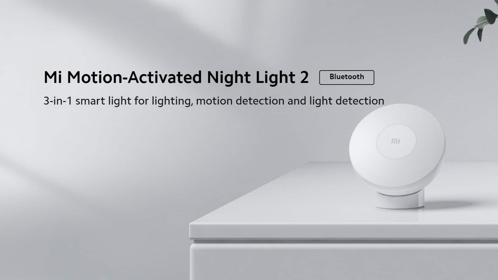 Luz nocturna activada por movimiento Xiaomi Mi 2 Bluetooth |  AliExpress